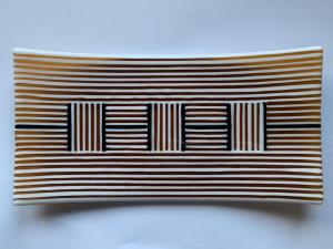 Russell Frith,  141 Amber, fused glass, 30.5x15.5cm,  £xx SOLD