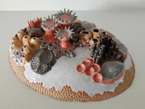 Jackie Hunter, Coral Reef, pottery, 21x16.5cm, NFS