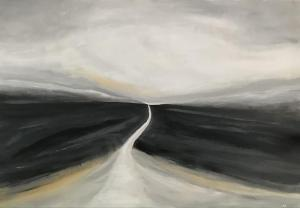 Kerrie Pe-Win, We Are Not Lost,  acrylic on canvas, 70x100cm,  £250